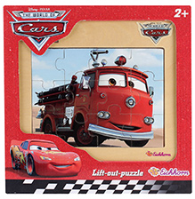 Simba Cars Wooden Frame Puzzle Red- 12 Pieces