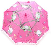 Fab N Funky Mashimaro Print Kids Umbrella - Dark Pink