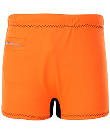 Veloz Swimming Trunks With Zigzag Top Stitch - Orange