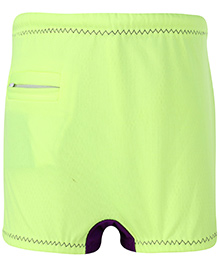 Veloz Swimming Trunks With Zigzag Top Stitch - Green