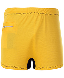 Veloz Swimming Trunks With Zigzag Top Stitch - Yellow
