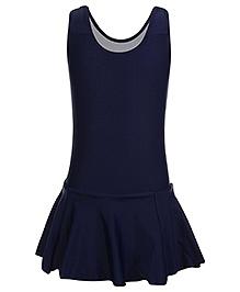 Veloz Sleeveless Frock Style Swimwear - Dark Navy Blue