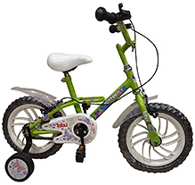 Tobu Butterfly Vibrant Green Bicycle - 14 inch