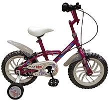 Tobu Butterfly Hot Pink Bicycle - 14 inch