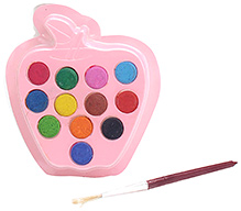 Mr. Clean Gems Water Crayons Pack With Apple Shape Palette- 12 Shades - 8 X 7.5 X 1 Cm