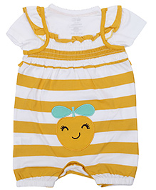 FS Mini Klub Short Sleeves T Shirt with Romper - Orange