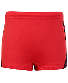 Veloz Red Swimming Trunks With Side Stripes