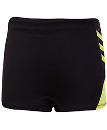 Veloz Black Swimming Trunks With Side Stripes
