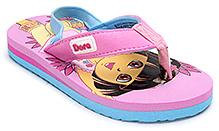 Dora Flip Flop with Back Elastic Strap - Pink