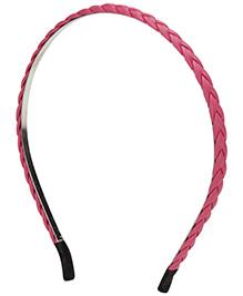 Stol'n Plait Pattern Hair Band - Pink