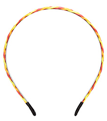 Stol'n Plait Pattern Hair Band - Yellow And Pink