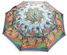 Fab N Funky Kids Umbrella Multicolor - Battle Print