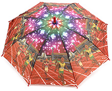 Fab N Funky Kids Umbrella Brown - Runner Print