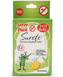 Surete Mosquito Repellent Patch - 45 Plus 5 Patches