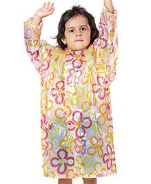 Babyhug Multicolor Printed Raincoat with Hood