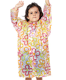 Babyhug Multicolor Printed Raincoat with Hood