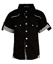 Cool Quotient Half Sleeves Shirt Black