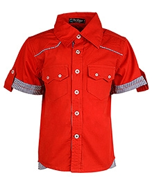 Cool Quotient Half Sleeves Shirt Red