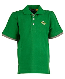 Cool Quotient Half Sleeves Basic Logo T-Shirt Green