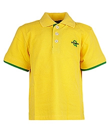 Cool Quotient Half Sleeves Basic Logo T-Shirt Yellow