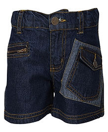 Cool Quotient Denim Patch Pocket Shorts