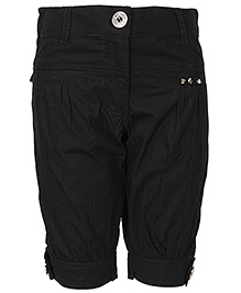 Cool Quotient Poplin Stitch Bermuda Shorts - Black
