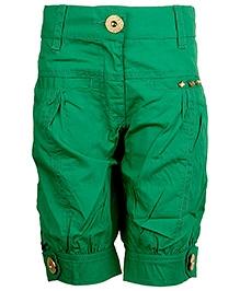 Cool Quotient Poplin Stitch Bermuda Shorts - Green
