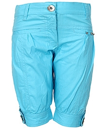 Cool Quotient Poplin Stitch Bermuda Shorts - Blue
