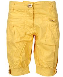Cool Quotient Poplin Stitch Bermuda Shorts - Yellow