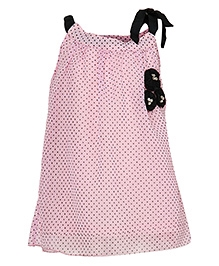 Via Italia Singlet Top With Polka Print - Pink