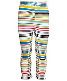 Cool Quotient Full Length Legging Stripe Print - Multicolour