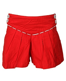 Cool Quotient Pleaded Shorts - Red
