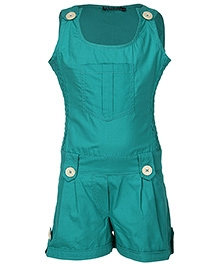 Cool Quotient Plain Singlet Jumpsuit - Sea Green
