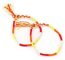 Creation Wildrepublic Bracelet - Yellow And Orange - Free Size