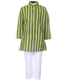 Bhartiya Paridhan Full Sleeves Kurta And Pyjama Set - Mehandi