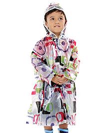 Babyhug Multicolor Printed Rain Coat With Hood