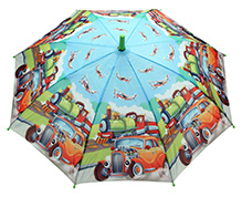 Fab N Funky Vehicle Print Umbrella - Multi Colour