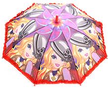 Fab N Funky Girls Print Kids Umbrella - Multi Colour