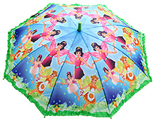 Fab N Funky Multicolor Kids Umbrella with Fairy Girl Print