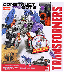 Transformers Construct Bots Lockdown And Hangnail Dino Buildable Figure