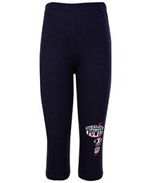 Taeko Full Length Track Pant Athletic Power Print - Navy Blue