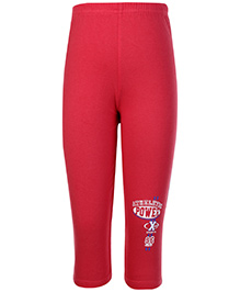 Taeko Full Length Track Pant Athletic Power Print - Red