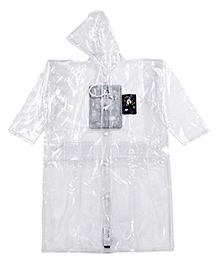 Babyhug Hooded Raincoat - White