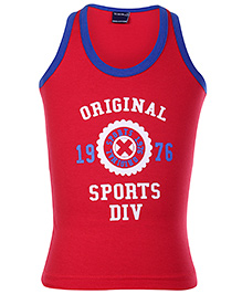 Taeko Sleeveless Vest Red - Original Sport Print