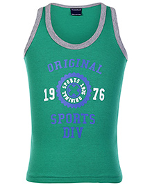 Taeko Sleeveless Vest Green - Original Sport Print