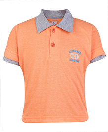 Cucumber Half Sleeves Polo T Shirt - Orange