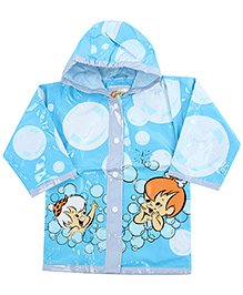 Babyhug Hooded Raincoat Blue - Baby Print