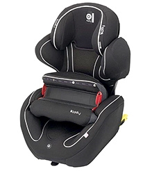 Kiddy Pheonix Fix Car Seat - Black - 9 Months+