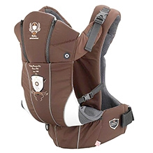 Kiddy Heart Beat Riders Club Baby Carrier Brown - Upto 14 Kg