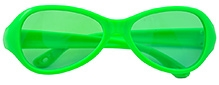 Angel Glitter Kids Sunglasses - Neon Green